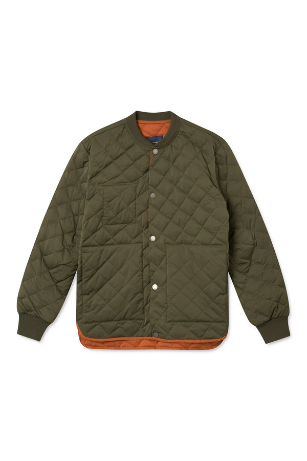 SEVERIN ARMY GREEN PADDED JACKET