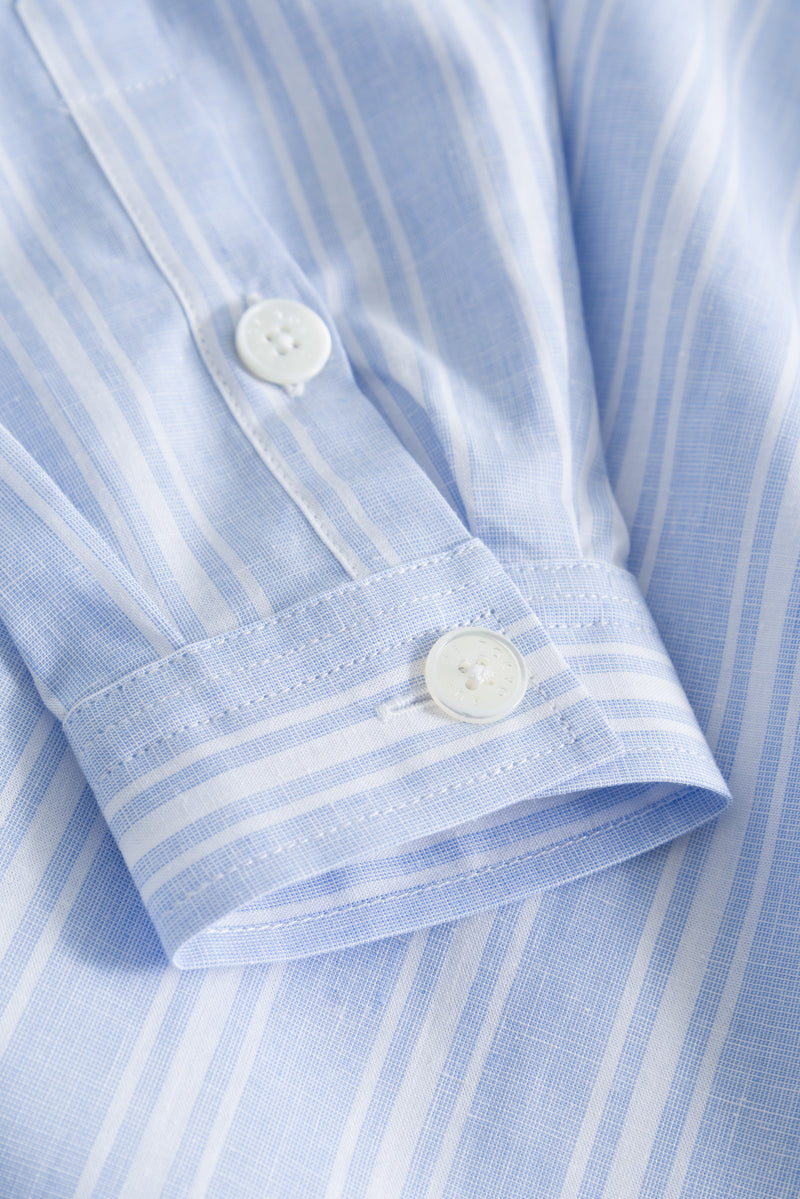 SHILOH LIGHT BLUE/WHITE STRIPE SHIRT