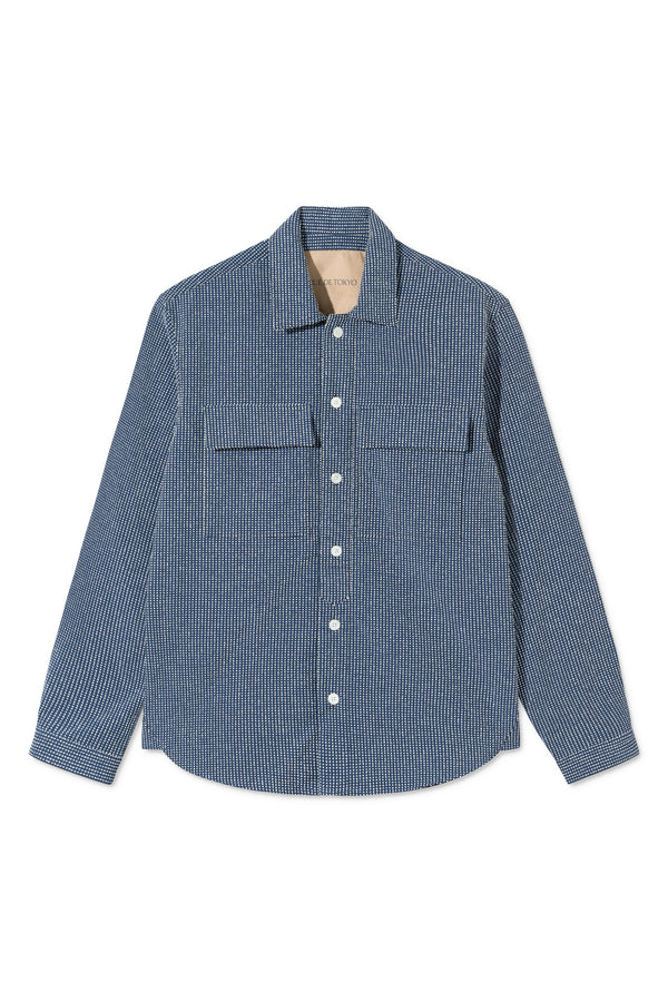 SILAS NAVY/WHITE DOT SHIRT
