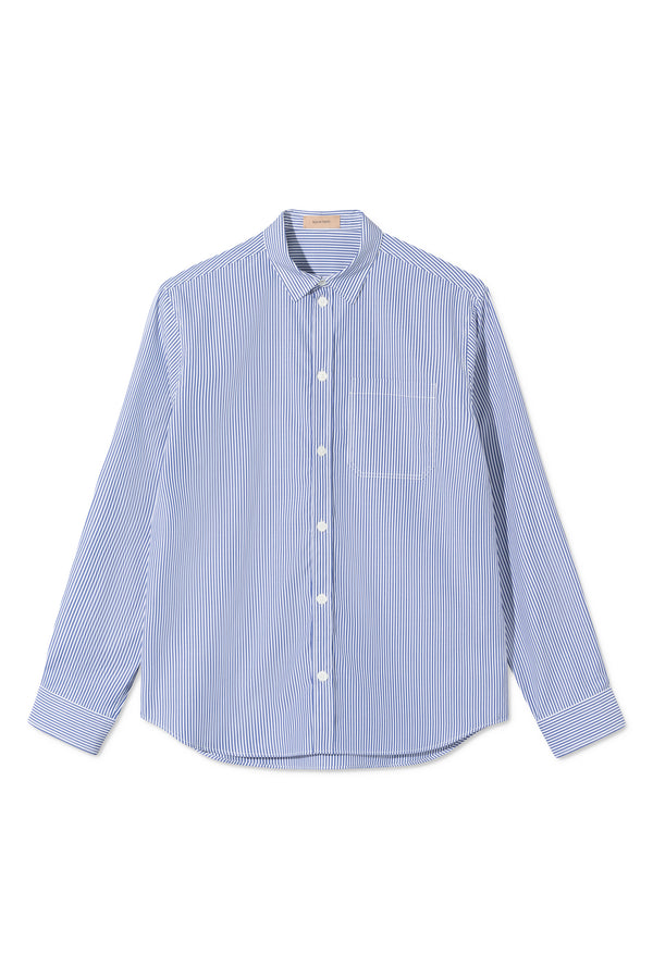 STORM BLUE/WHITE STRIPE SHIRT