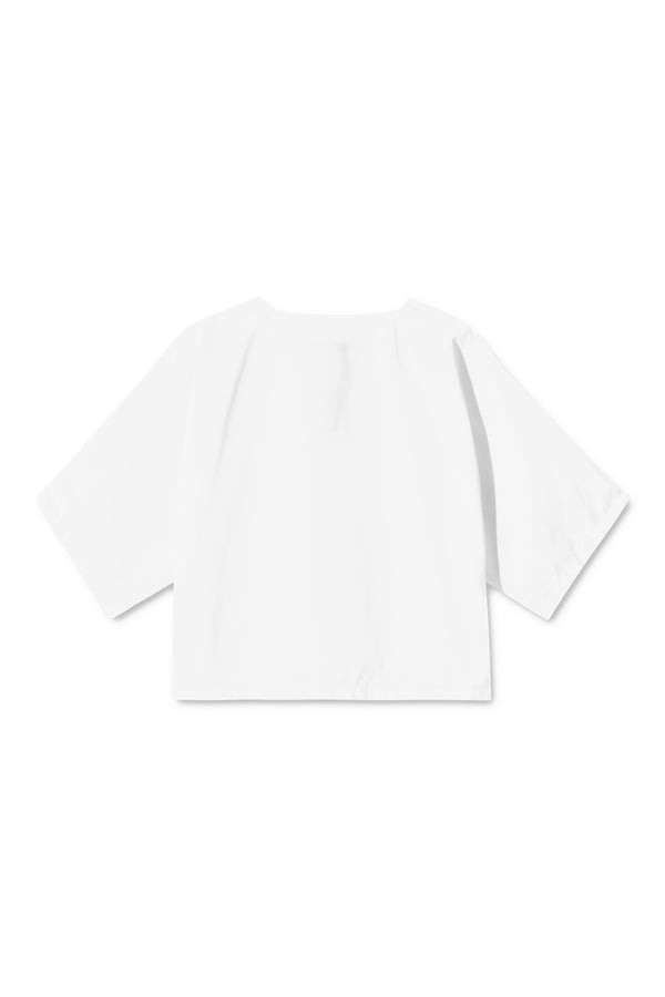 SYLVIA WHITE BOXY CROPPED SHIRT