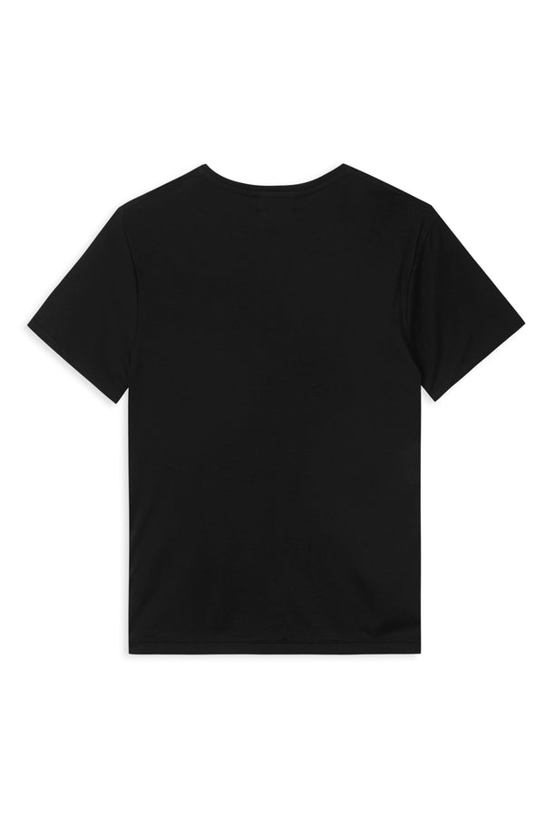TAIMA BLACK ORGANIC COTTON T-SHIRT