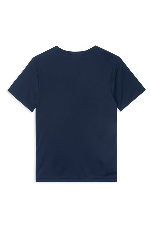 TAIMA NAVY - ORGANIC COTTON T-SHIRT