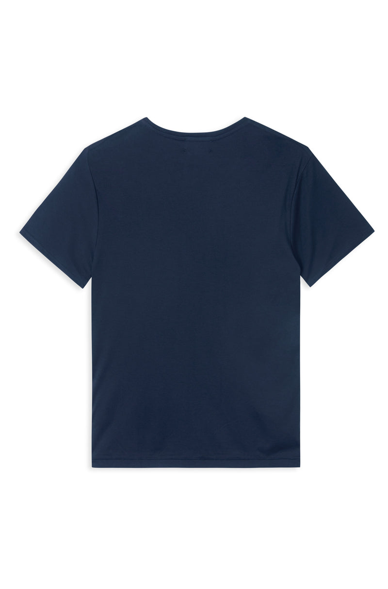 TAIMA NAVY ORGANIC COTTON T-SHIRT