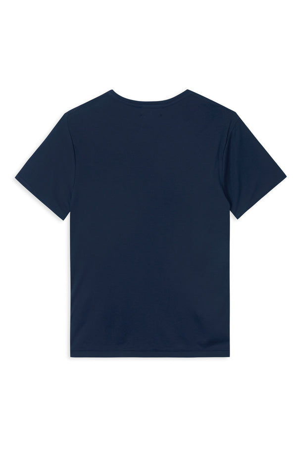 TAIMA NAVY WITH WHITE CIRCLE LOGO T-SHIRT