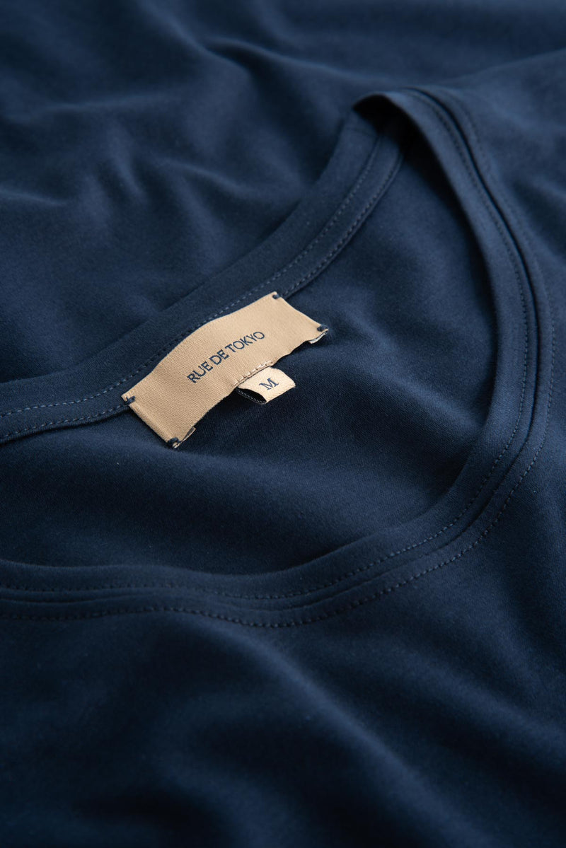 TREVES NAVY ORGANIC COTTON T-SHIRT