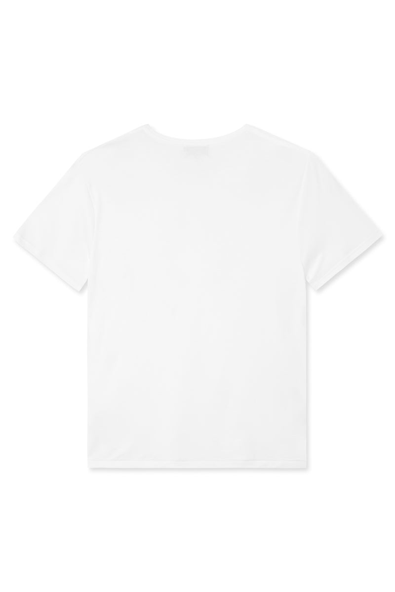 TREVES WHITE ORGANIC COTTON T-SHIRT