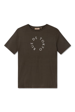 TREVES ARMY GREEN WITH WHITE CIRCLE LOGO T-SHIRT