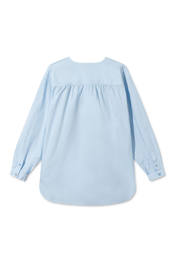 SHAI LIGHT BLUE GARMENT DYED SHIRT