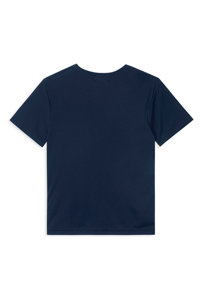 TREVES NAVY WITH WHITE CIRCLE LOGO T-SHIRT