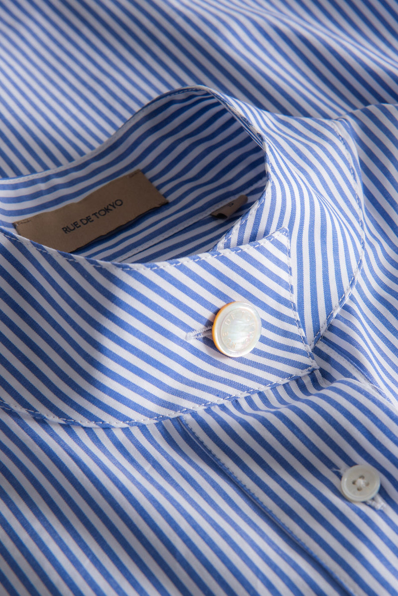 SERA NAVY WHITE STRIPE SHIRT