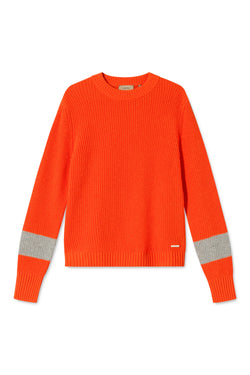 KANEL ORANGE STRIPED SWEATER