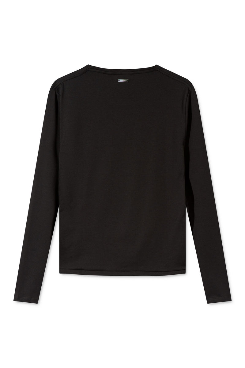 TORI BLACK ORGANIC COTTON LONG SLEEVE T-SHIRT