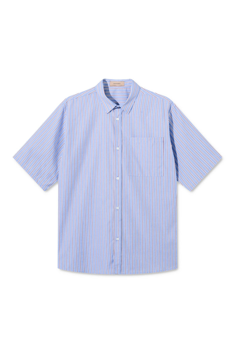 SEAN STRIPED OVERSIZED SHORT SLEEVE SHIRT