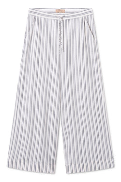 PHOEBE WHITE BLUE STRIPED CASUAL PANTS