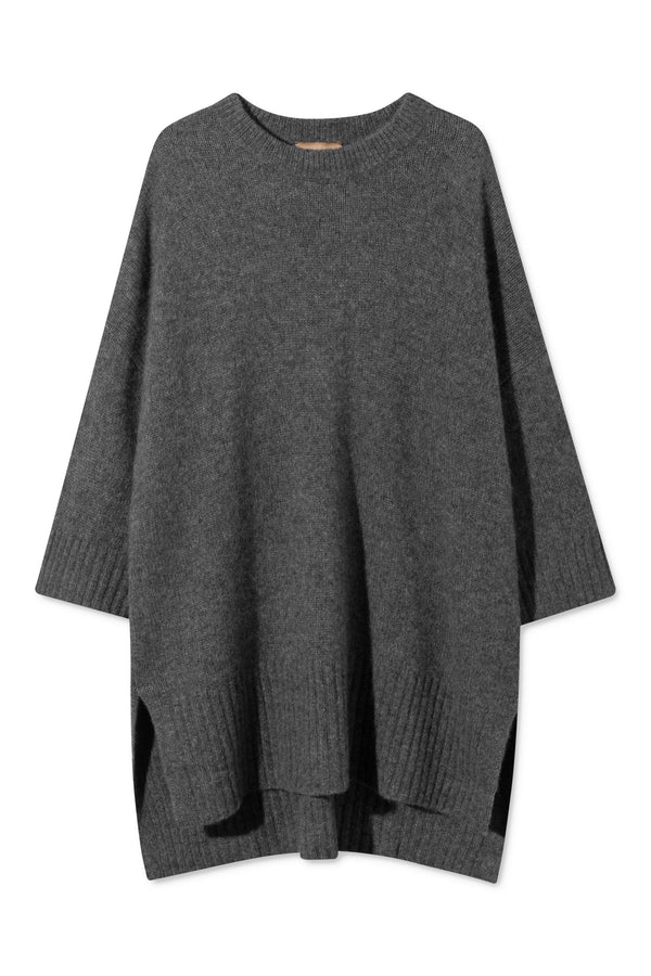 KIKI DARK GREY MELANGE SWEATER