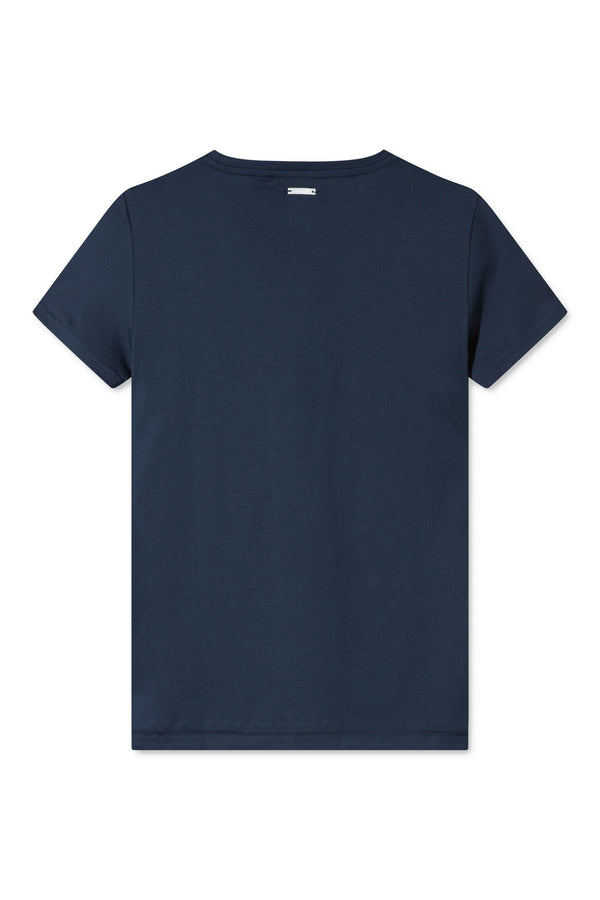 TAIMA NAVY LOGO EMBROIDERY T-SHIRT