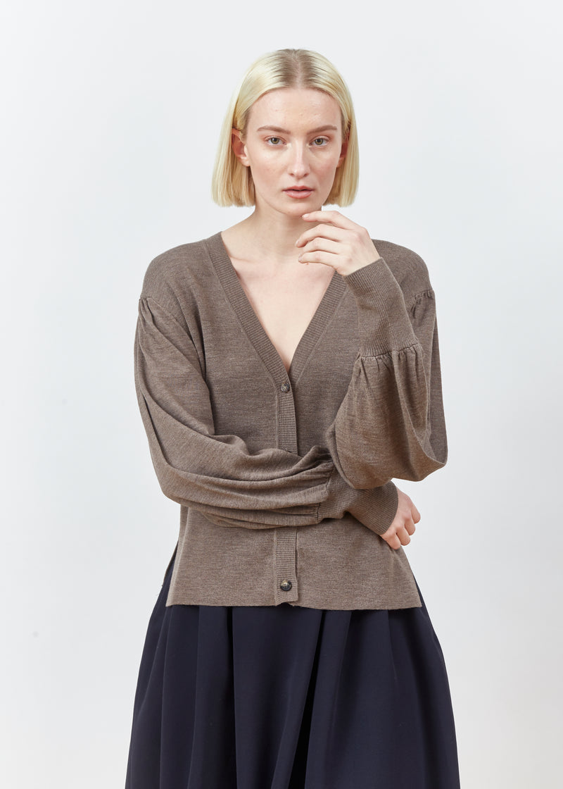 KIRA NUTMEG CARDIGAN KNIT