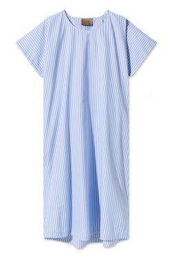 DEBRA LIGHT BLUE/WHITE STRIPED OVERSIZED DRESS