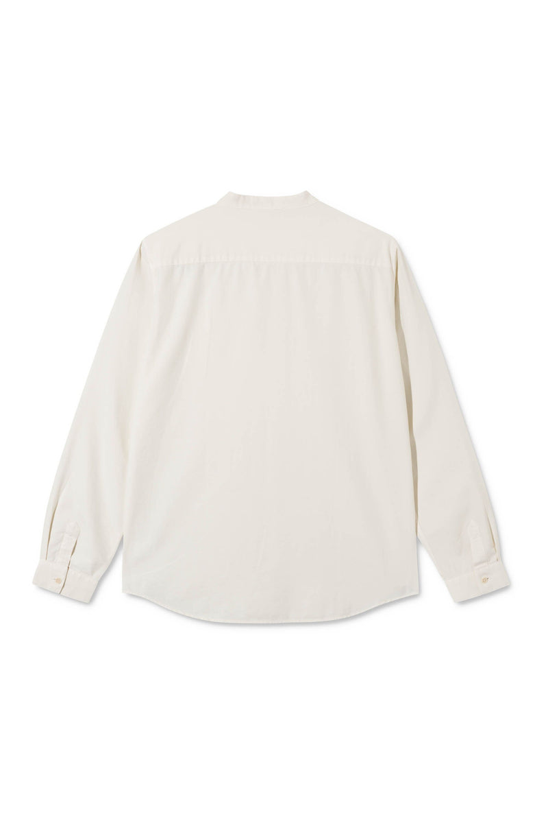 SAMUEL OFF WHITE MAO COLLAR SHIRT