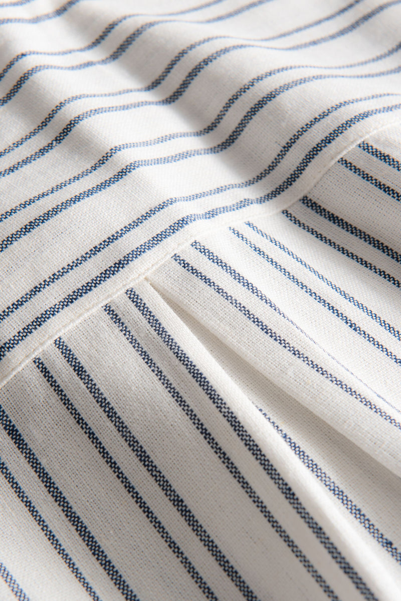 SUSAN WHITE BLUE STRIPED SHIRT