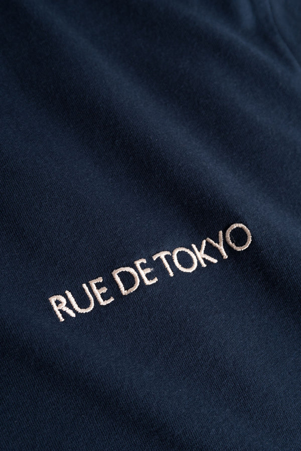 TREVES NAVY WITH LOGO EMBROIDERY
