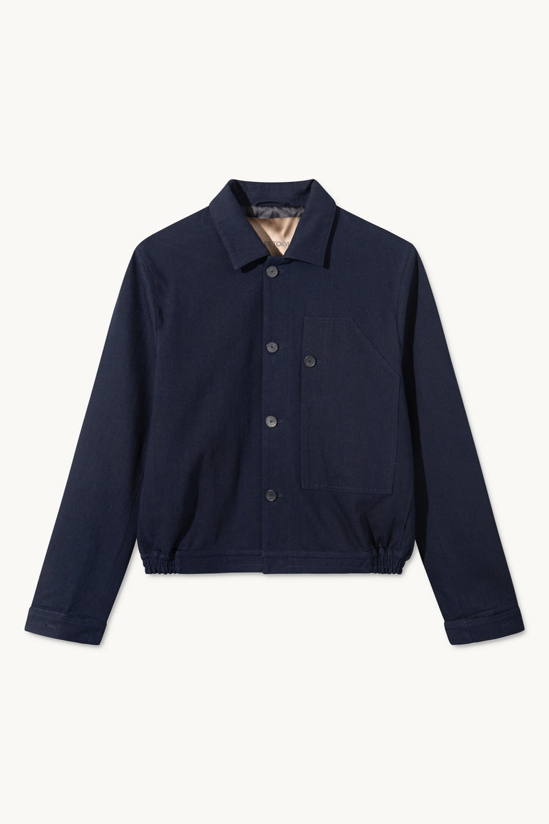 CALEB DARK NAVY DENIM JACKET