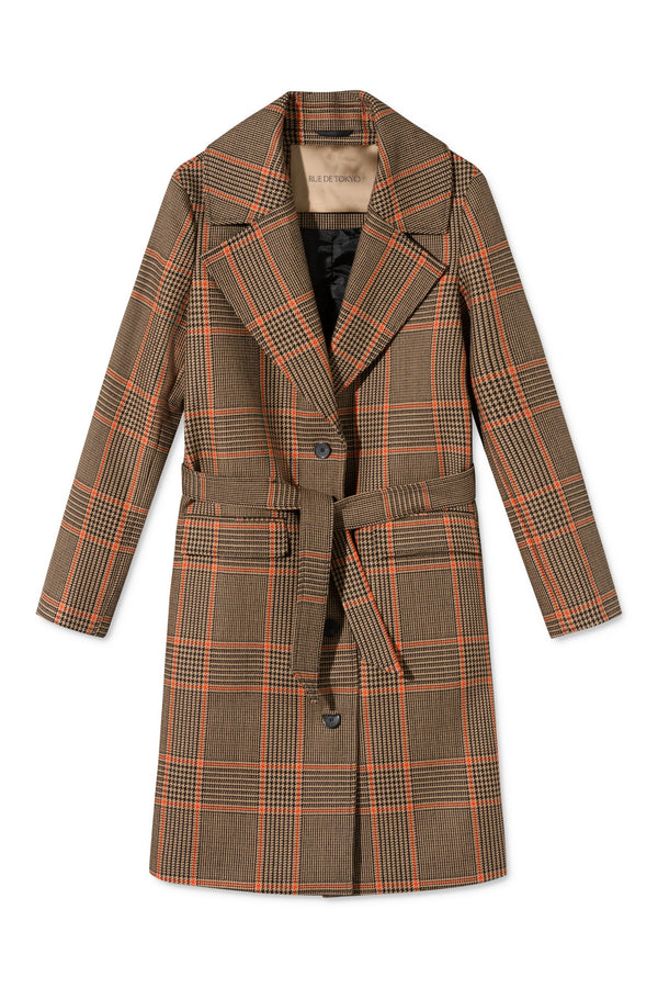 CHERI CHECK WOMEN COAT