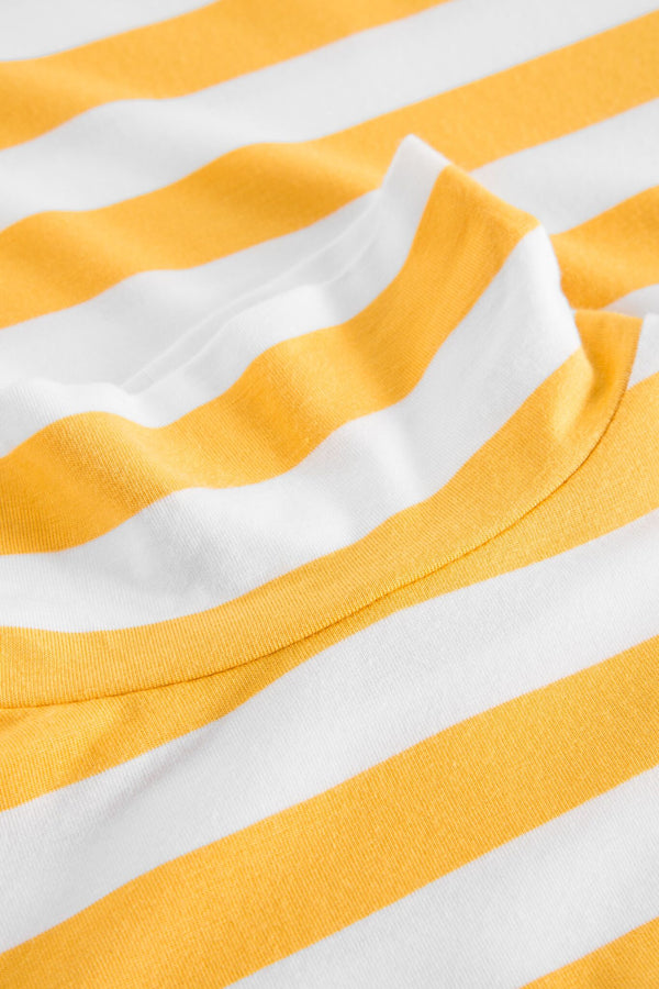 TELINE YELLOW/WHITE TURTLE NECK T-SHIRT
