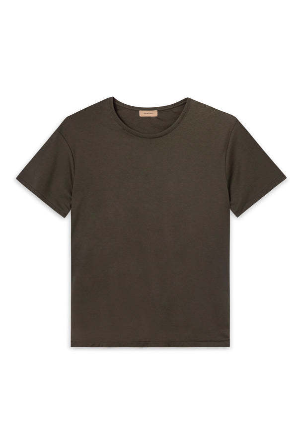 TREVES ARMY GREEN ORGANIC COTTON T-SHIRT