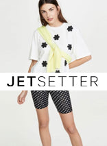 Faux Leather Bike Shorts on JetSetter
