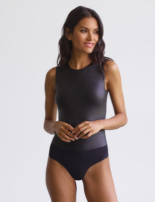 Faux Leather Signature Bodysuit