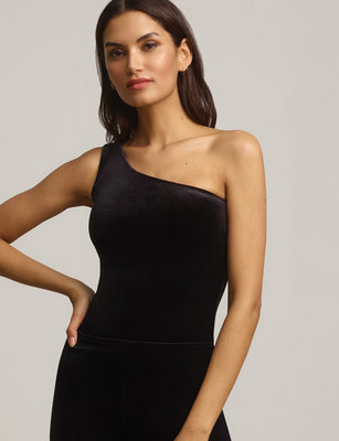 Sale: Velvet One-Shoulder Bodysuit