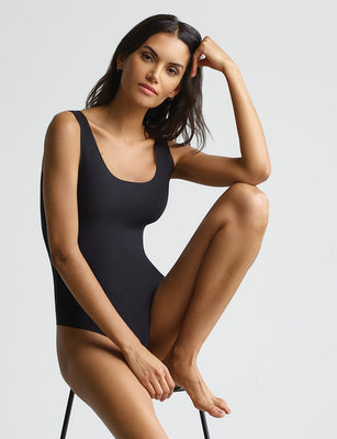 butter tank bodysuit in black