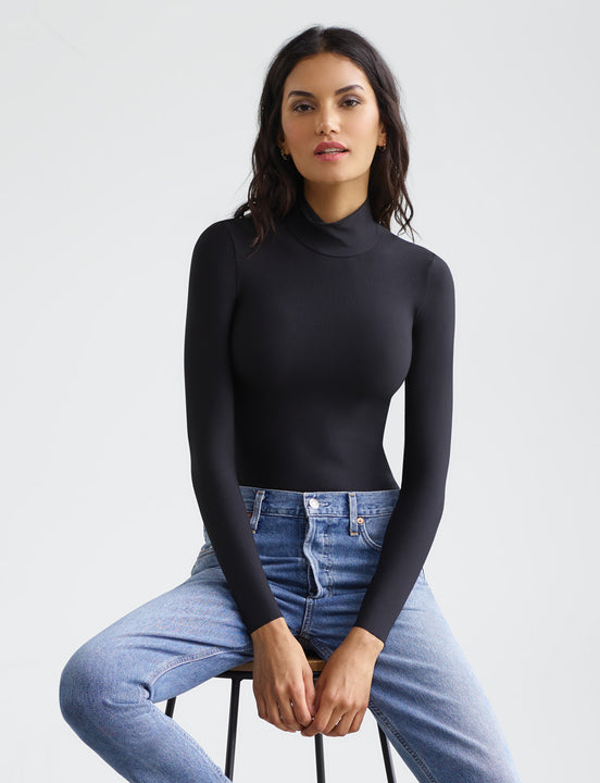 butter turtleneck bodysuit