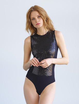 Sale: Sequin Signature Bodysuit
