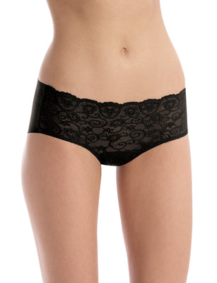 women's stretch lace bikini in black