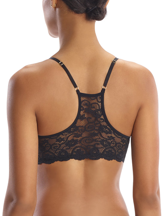 Lace Racerback Bralette in Black