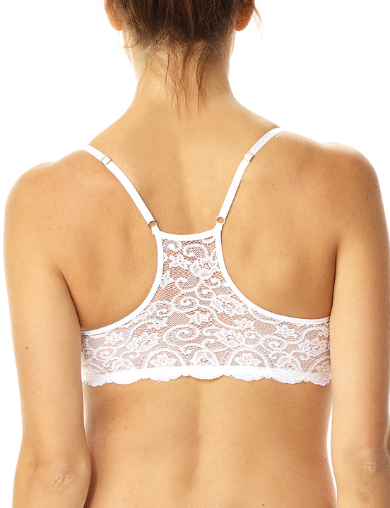 Lace Racerback Bralette in White