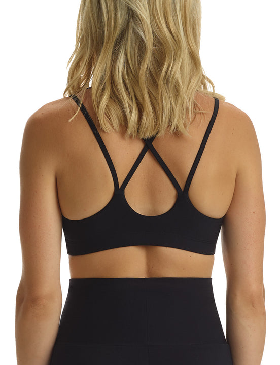 Butter Yoga Bra in Black