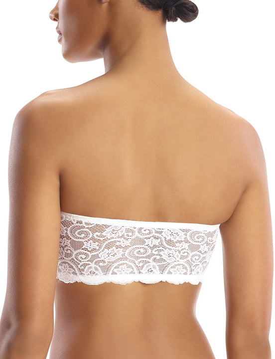 women's lace bandeau in white