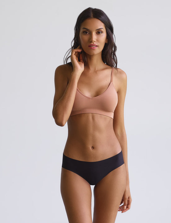 cotton bikini in black