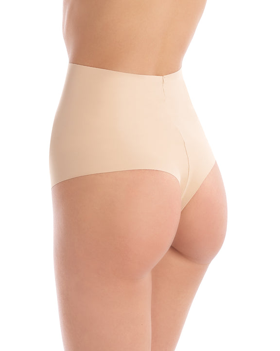 classic control thong in beige