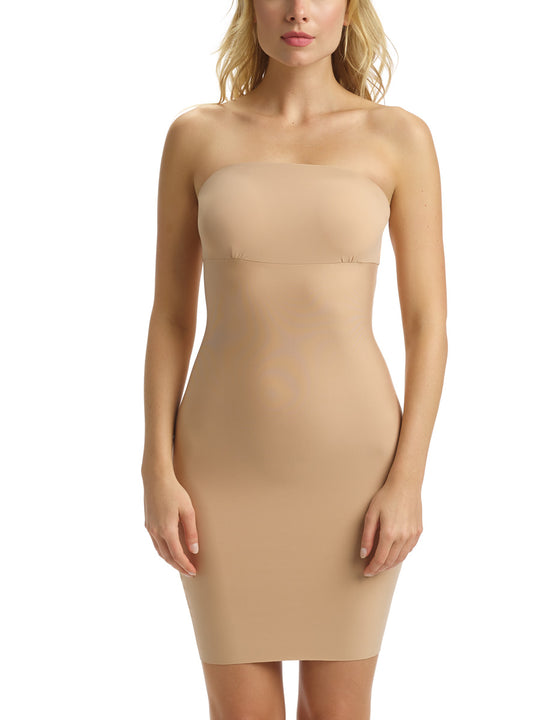 Two-Faced Control Strapless Slip in Beige