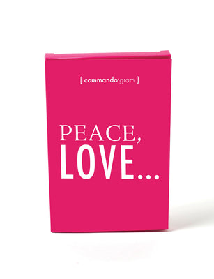 peace love commando gram box
