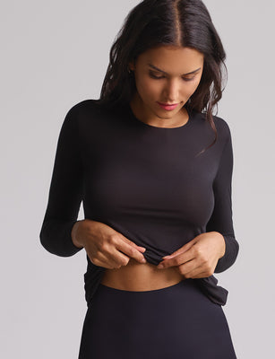 covet long sleeve top black