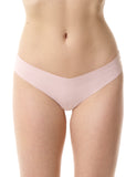 Seamless raw-cut thong in Blush