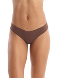 Seamless raw-cut thong in Mocha