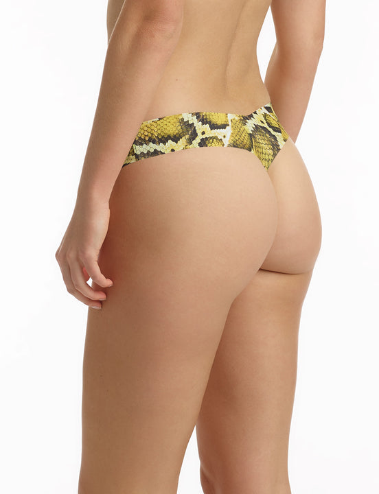Sunny Print Thong in Sunny snake