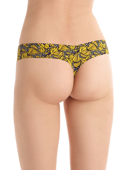 Classic Printed Thong yellow butterflies